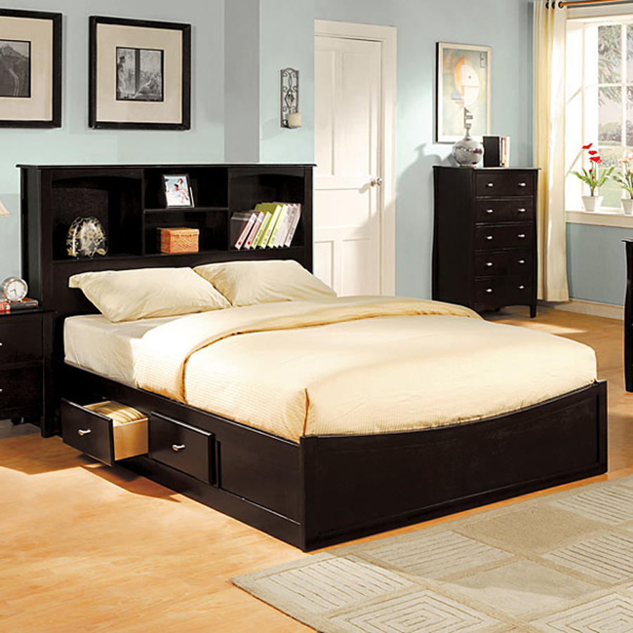 DIY Platform Bed With Storage Black