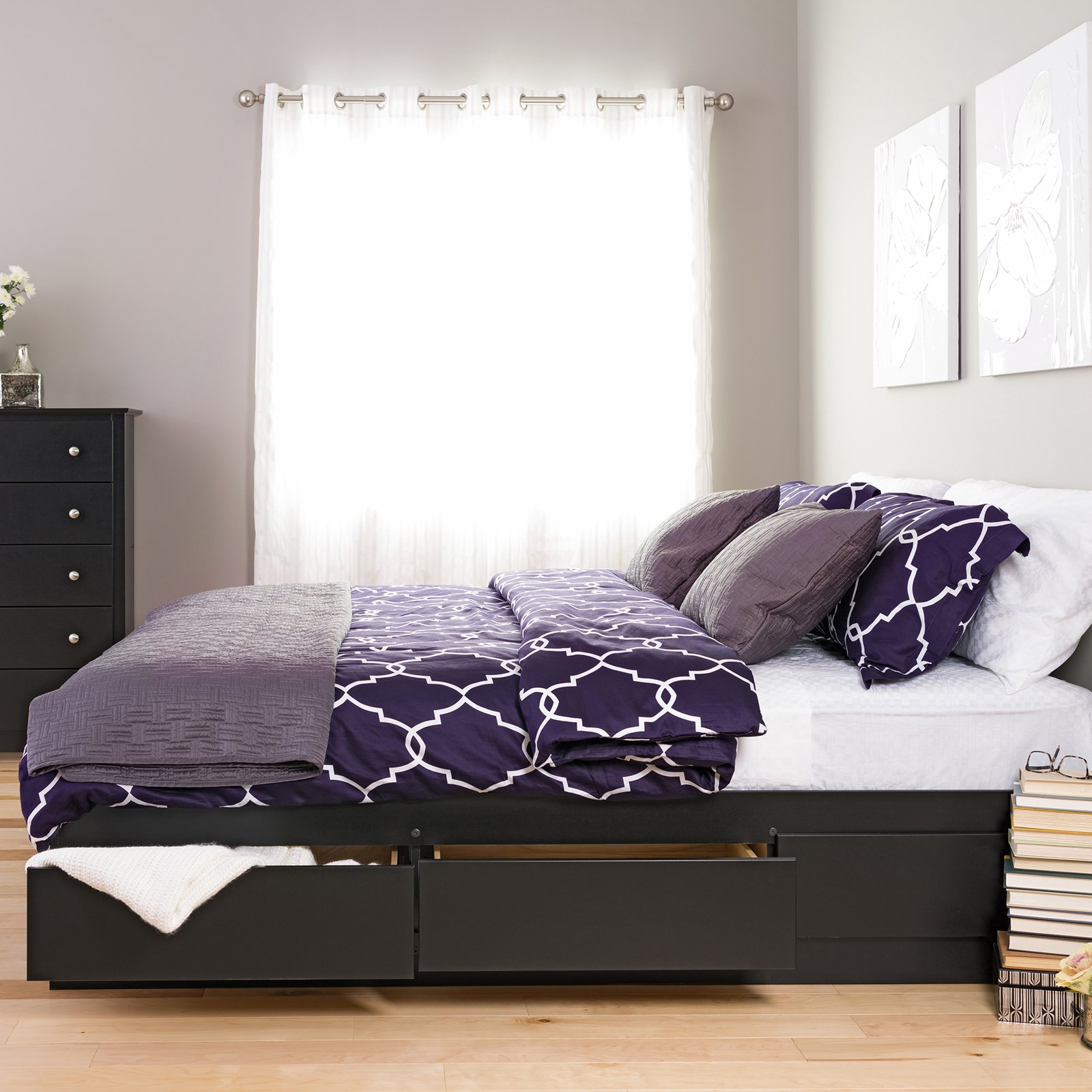 Image of: DIY Platform Bed with Storage Size