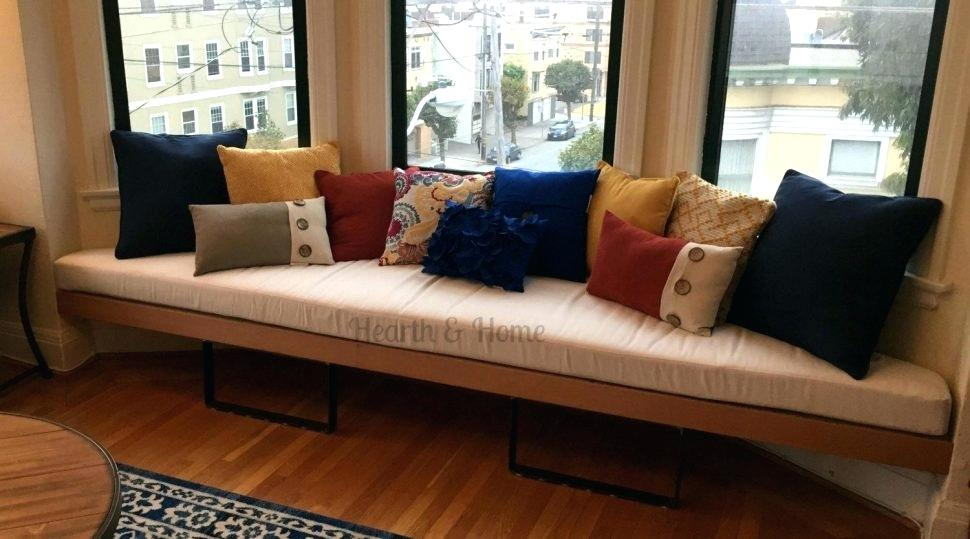 Image of: DIY Window Bench Cushions