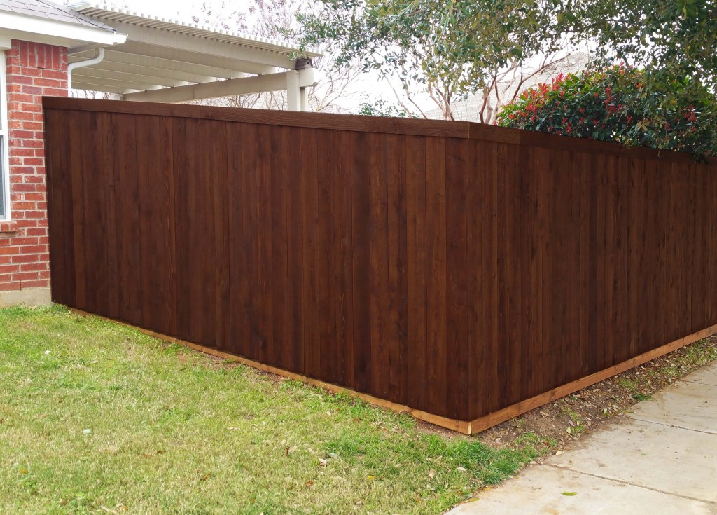 Picture of: Dark Wood Fence Boards