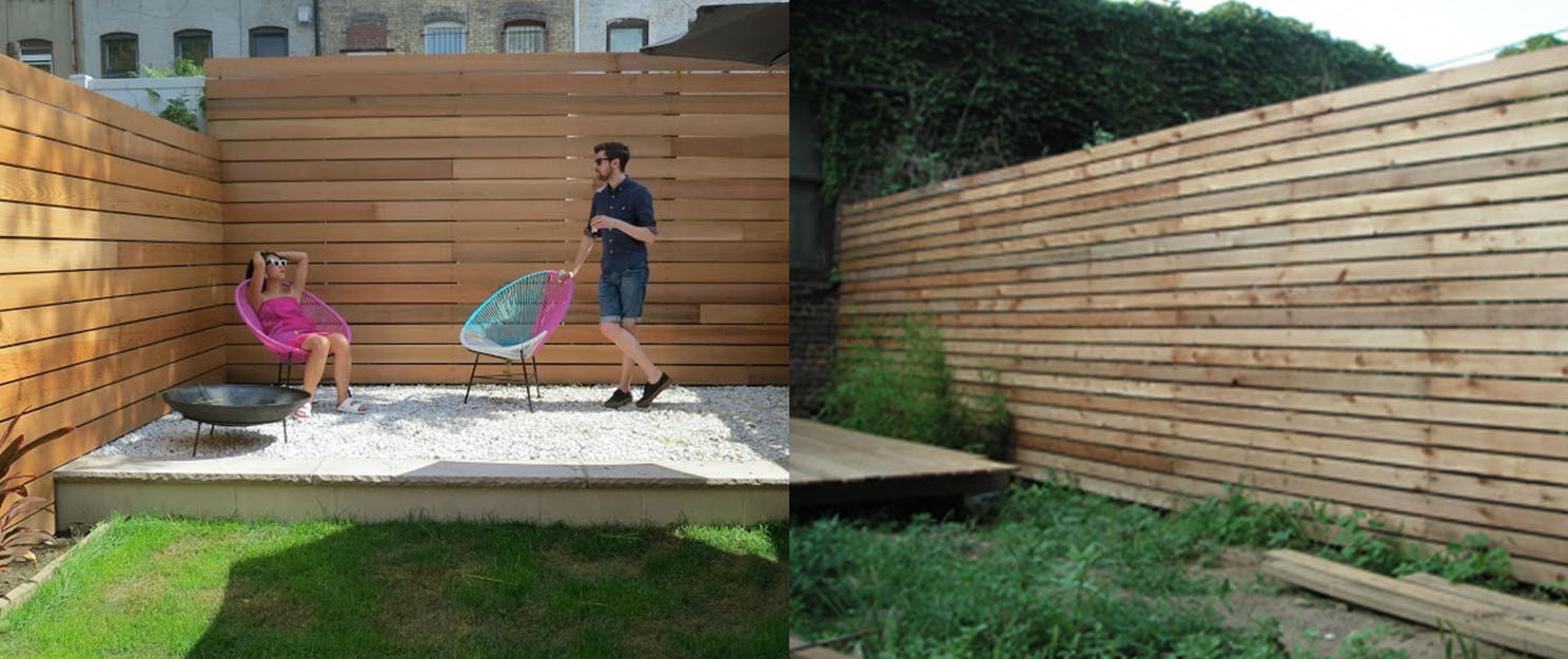 Picture of: Deck Horizontal Fence Ideas