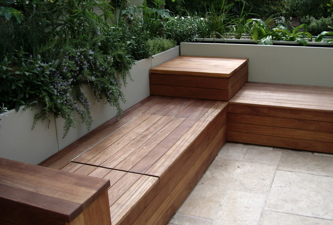 Deck Outdoor Wooden Benches