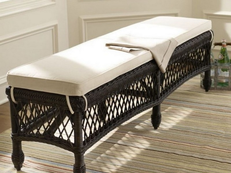Dining Bench Cushion With Ties