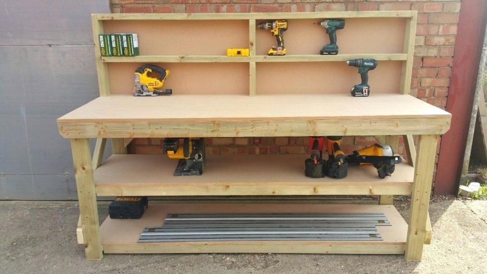 Picture of: Diy Kids Wooden Tool Bench
