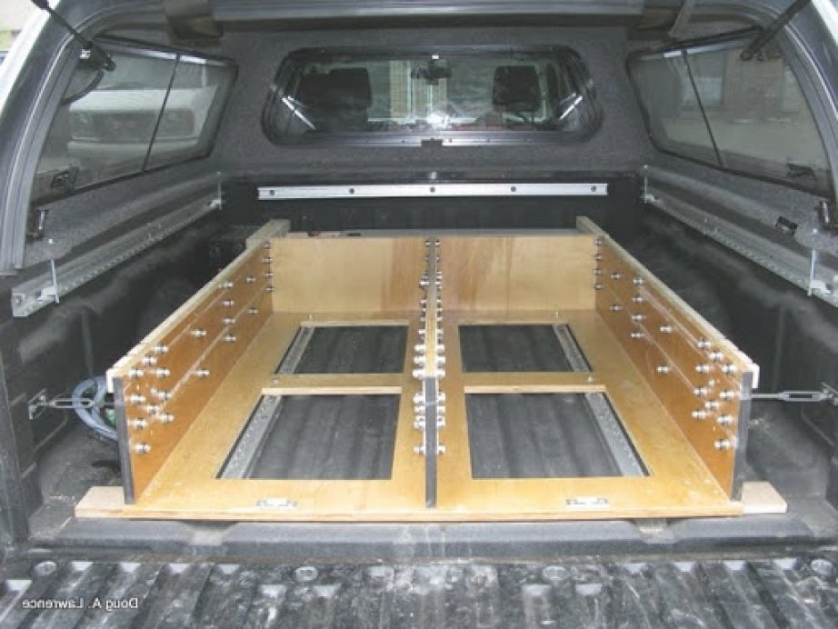 Image of: Diy Truck Bed Storage Drawers