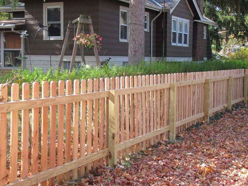 Picture of: Dog Wood Fence Images