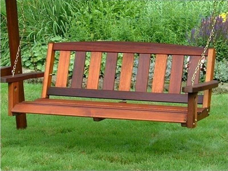 Picture of: Famous Wooden Bench Swing