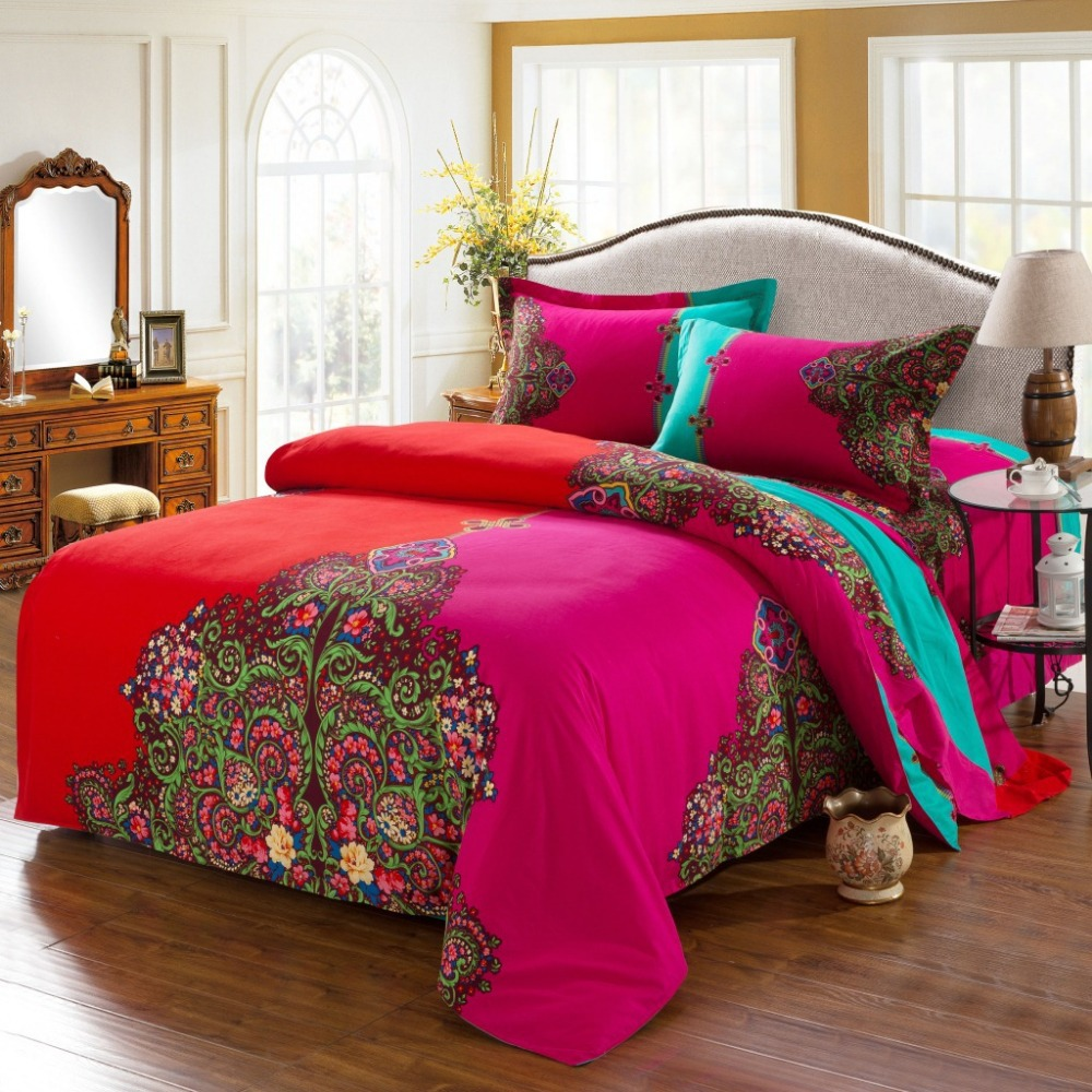 Image of: Fancy Bohemian Comforter Sets