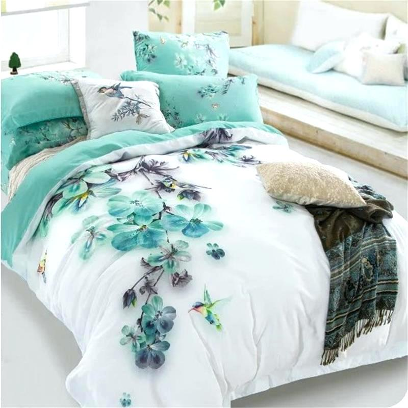 Picture of: Floral Teal Bedding Sets Queen