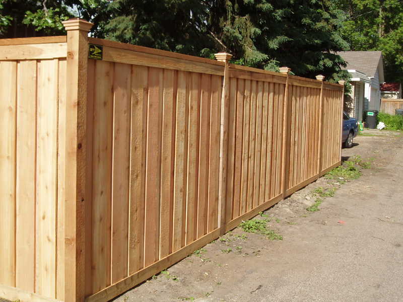 Picture of: Framed Board Wood Fence Cap
