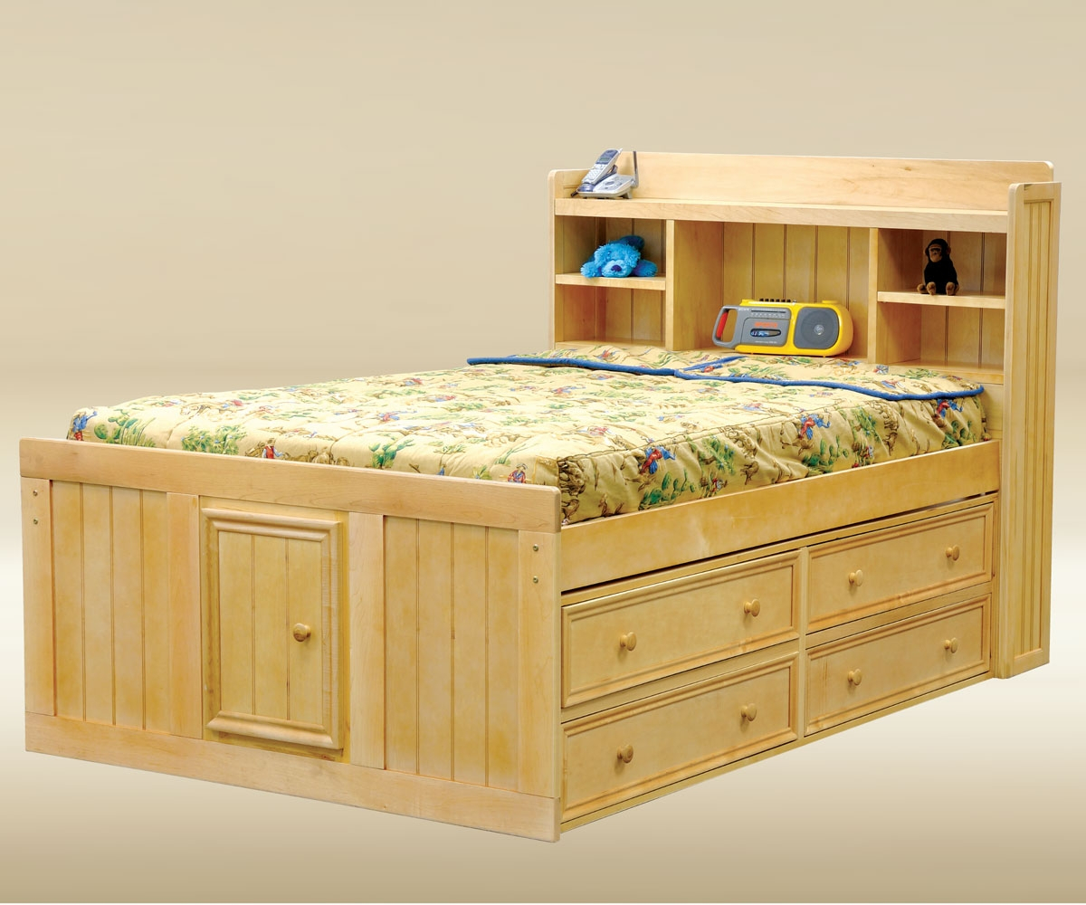 Full Size Captains Bed With Storage Drawer