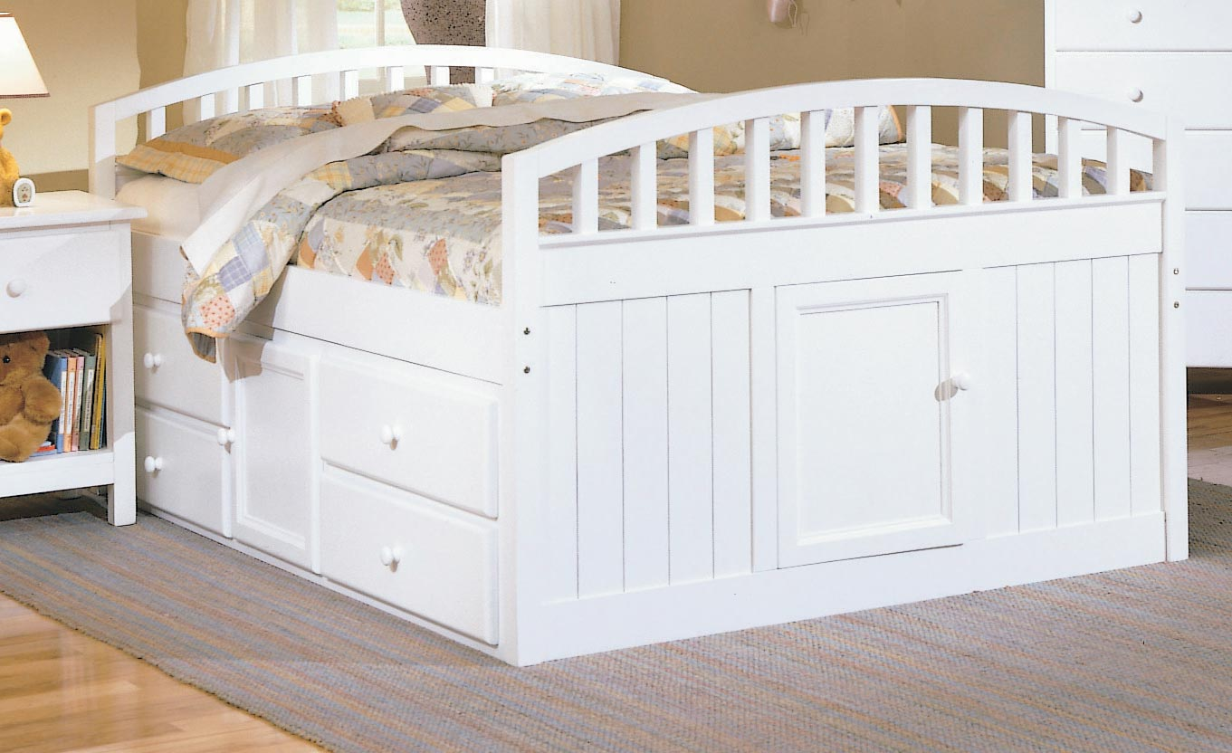 Full Size Captains Bed With Storage Sets