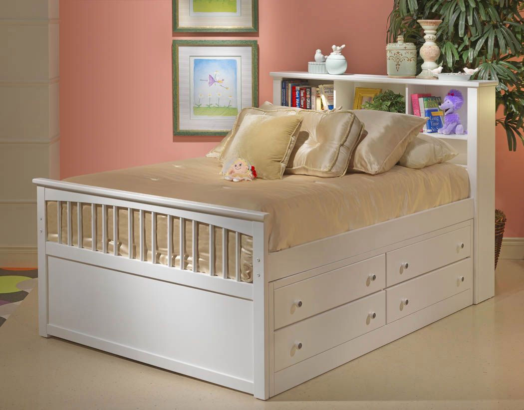 Full Size Captains Bed With Storage Style