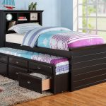 Full Size Captains Bed With Storage and Trundle