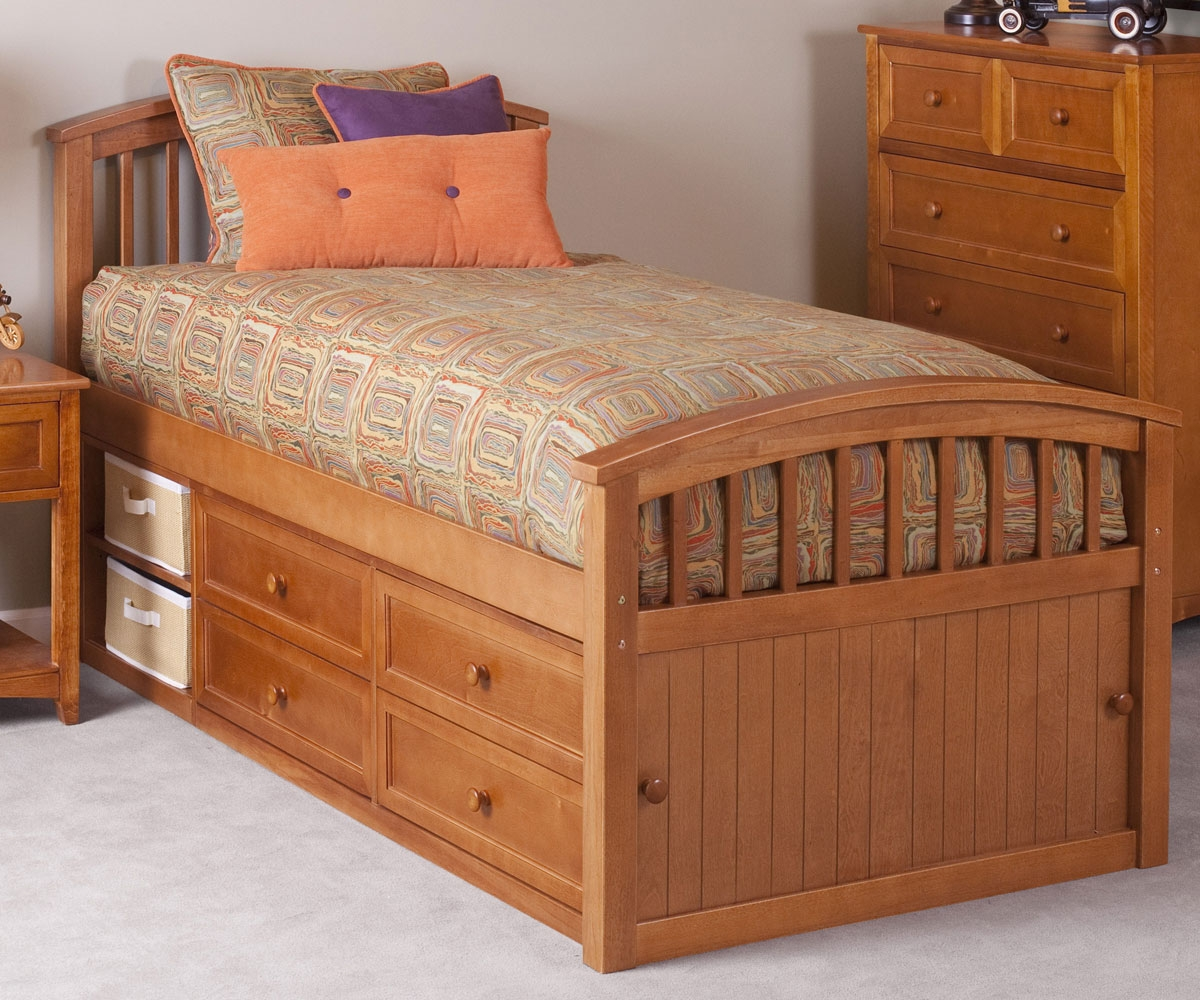 Full Size Captains Bed With Storage For Child