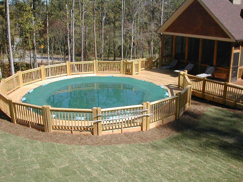 Gallery Above Ground Pool Fence Ideas