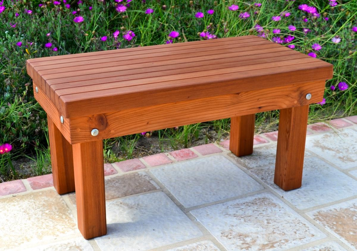 Picture of: Garden Small Wooden Bench