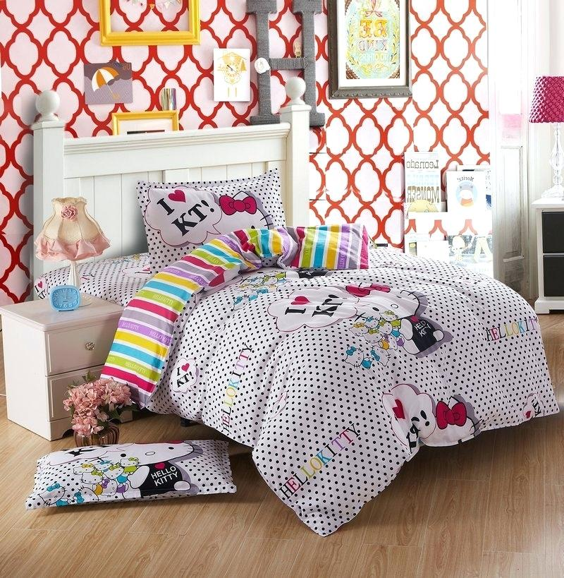 Image of: Girls Cat Duvet Cover