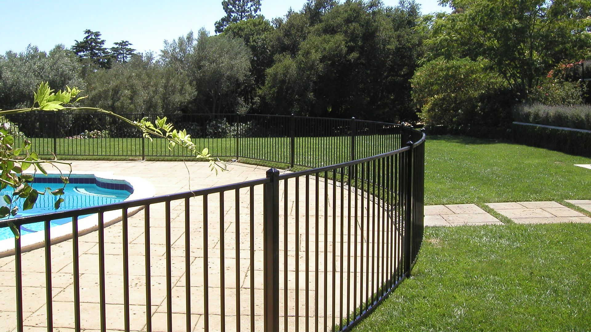 Good Metal Pool Fence
