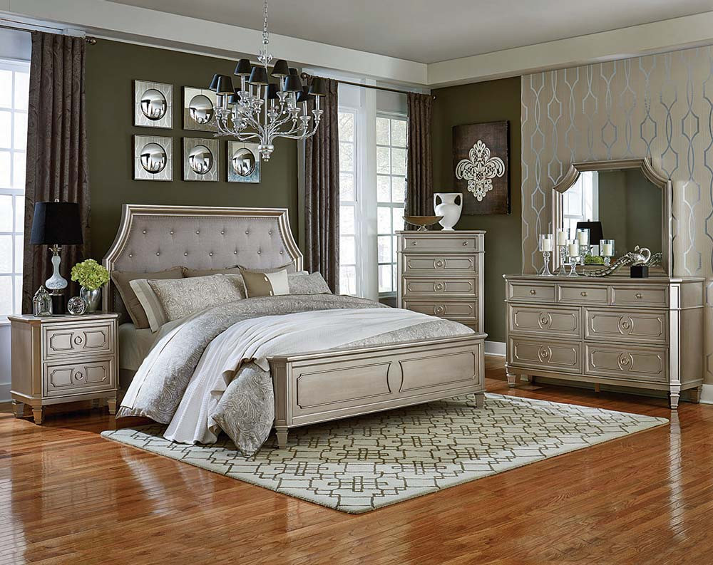 Picture of: Good Silver Bedroom Set