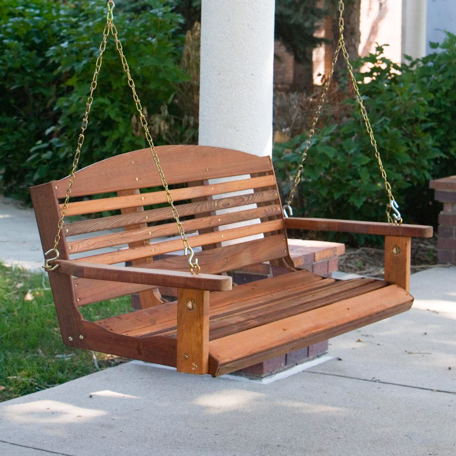Picture of: Good Wooden Bench Swing
