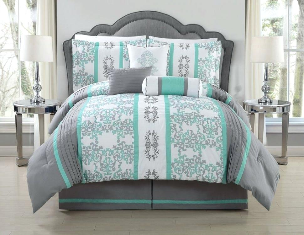 Picture of: Gray Teal Bedding Sets Queen