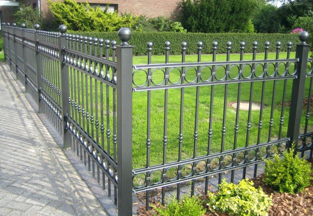 Picture of: Gray Wrought Iron Fence Panels