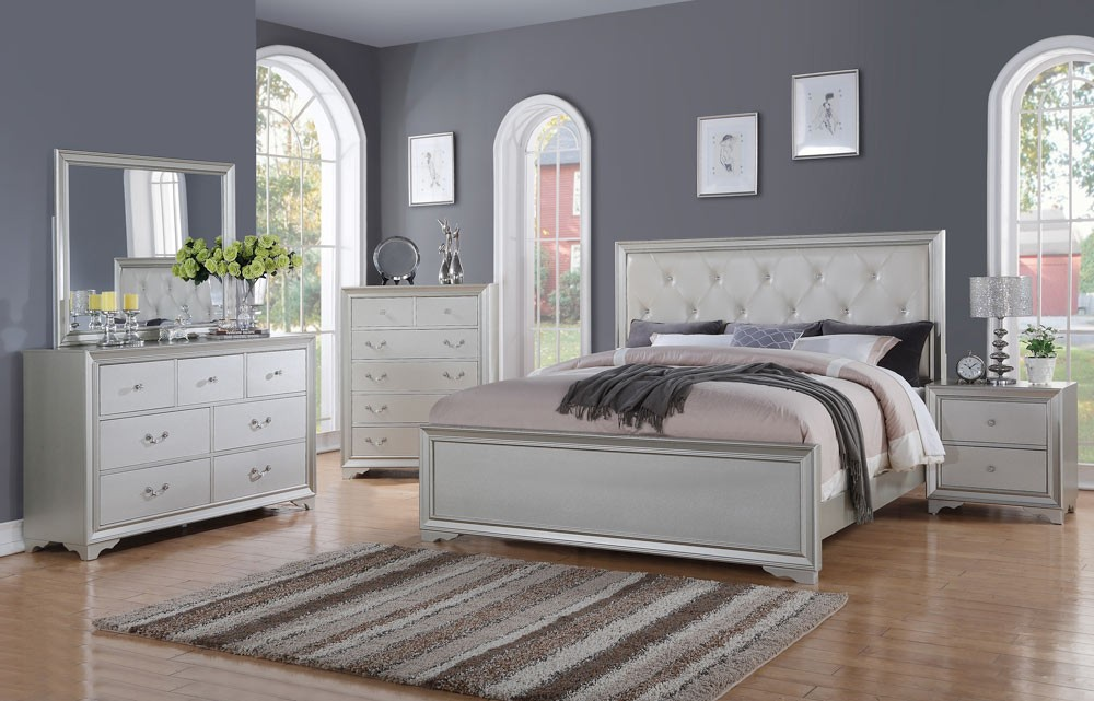 Picture of: Great Silver Bedroom Set