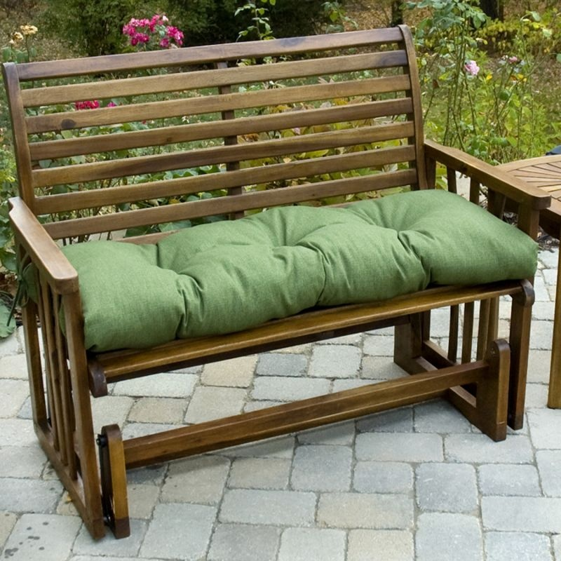Image of: Green Bench Cushions Ikea