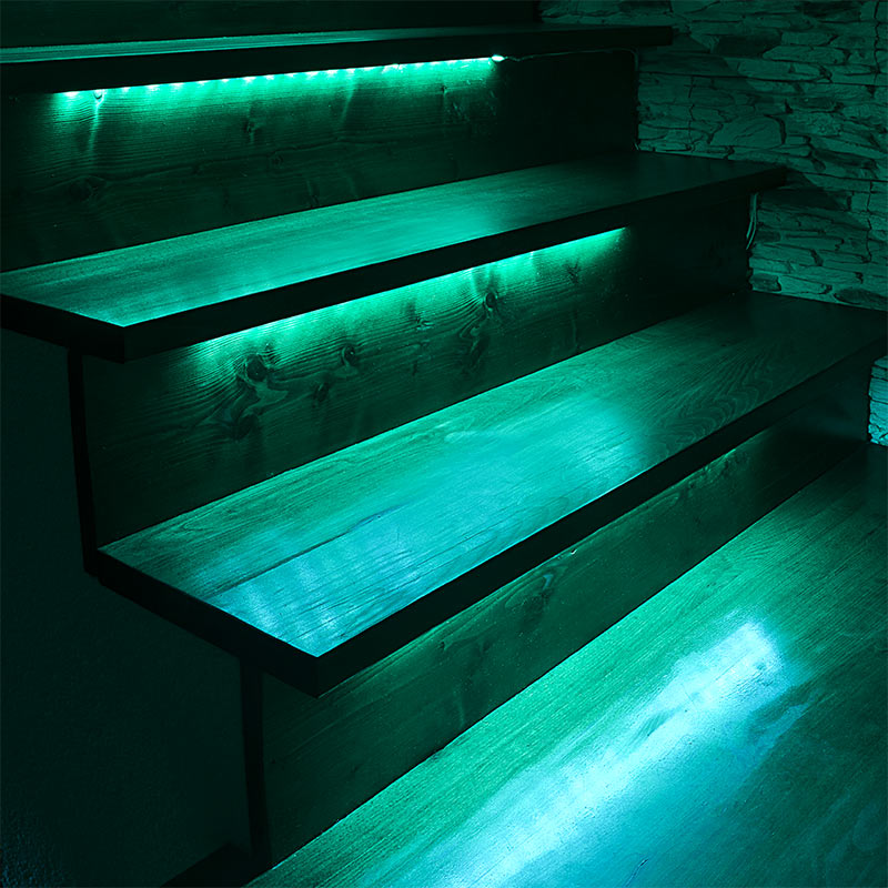 Picture of: Green Led Outdoor Step Lights