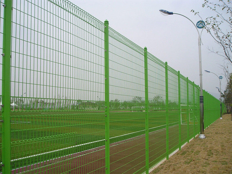 Picture of: Green Wire Mesh Fence Panels