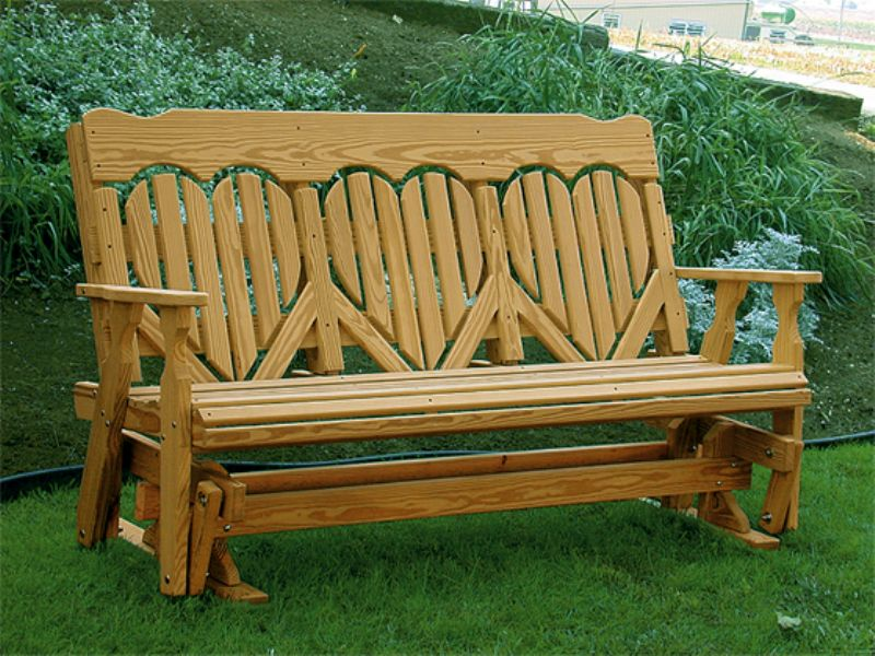 Picture of: High Wooden Glider Bench