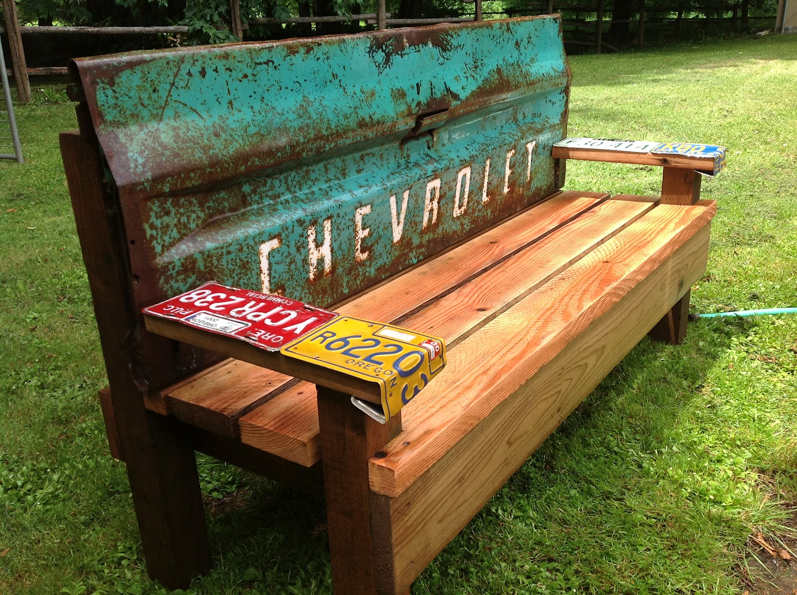 Homemade Wooden Bench Rust