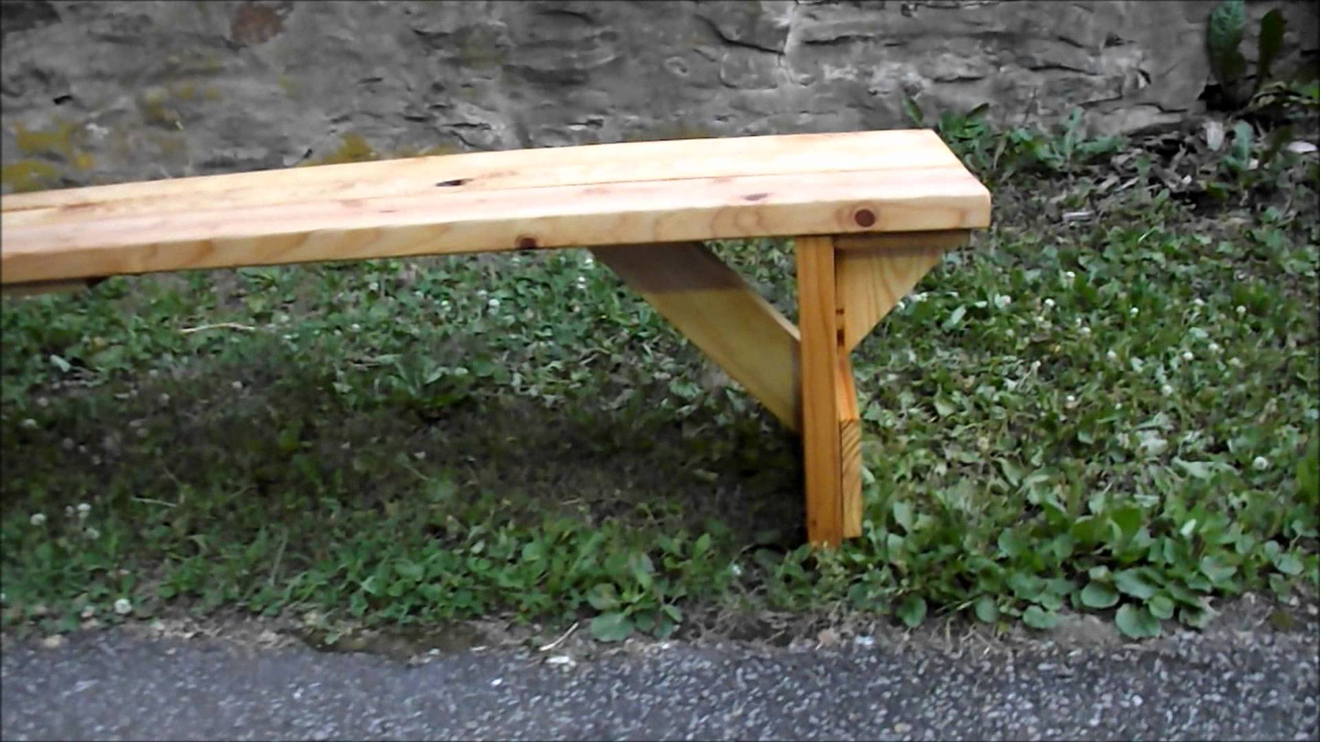 Homemade Wooden Bench Simple