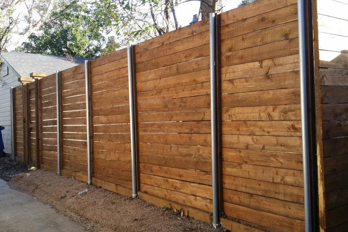 Picture of: Horizontal Fence Ideas Build
