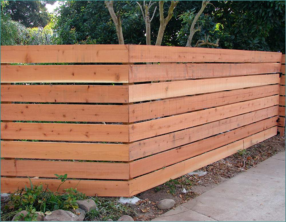 Picture of: Horizontal Fence Ideas Type