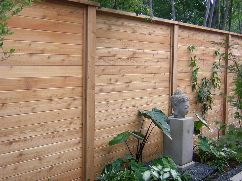 Picture of: Horizontal Fence Ideas Wood