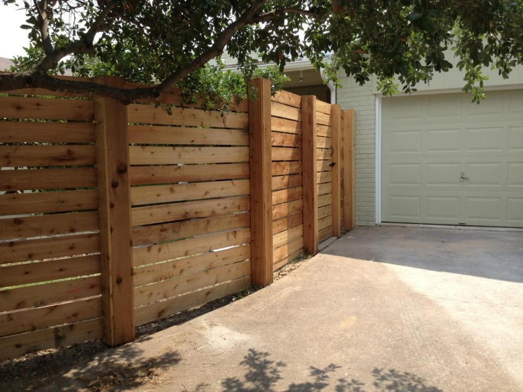 Picture of: Horizontal Wood Fence Panels Fence