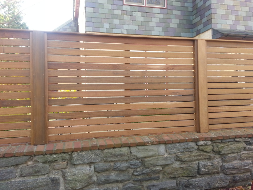 Picture of: Horizontal Wood Fence Panels Simple