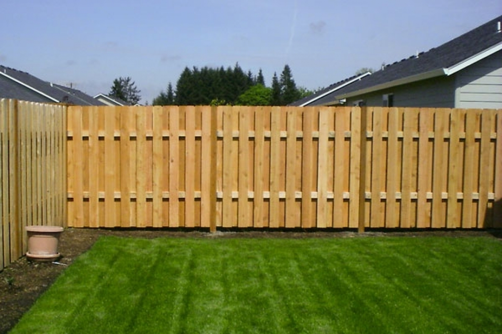 Picture of: How To Install Shadow Box Wood Fence