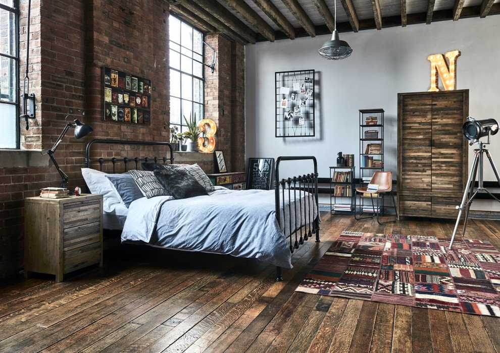 Industrial Rustic Bedroom Set
