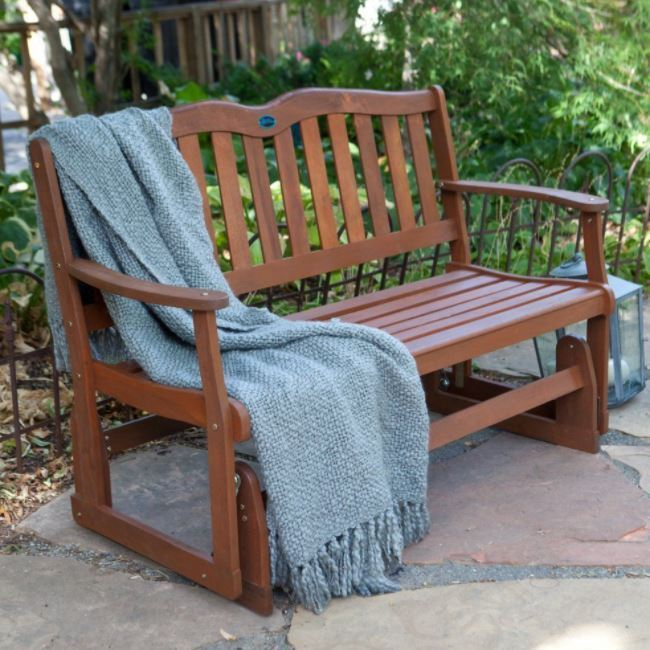 Picture of: Innovative Wooden Glider Bench
