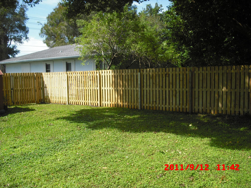 Picture of: Installing Shadow Box Wood Fence