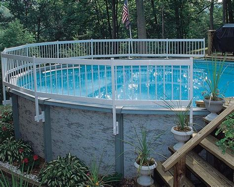 Interest Above Ground Pool Fence Ideas