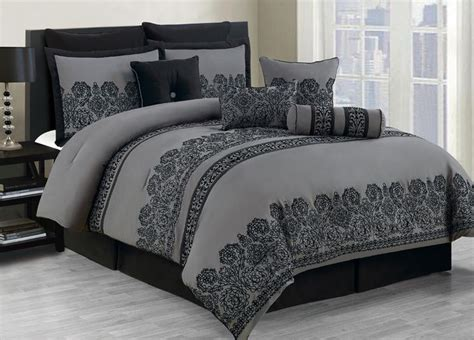 Image of: Interest Grey Comforter Sets King