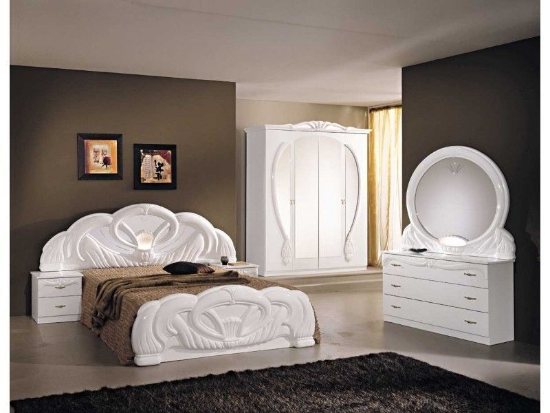 Italian Bedroom Set White Swan