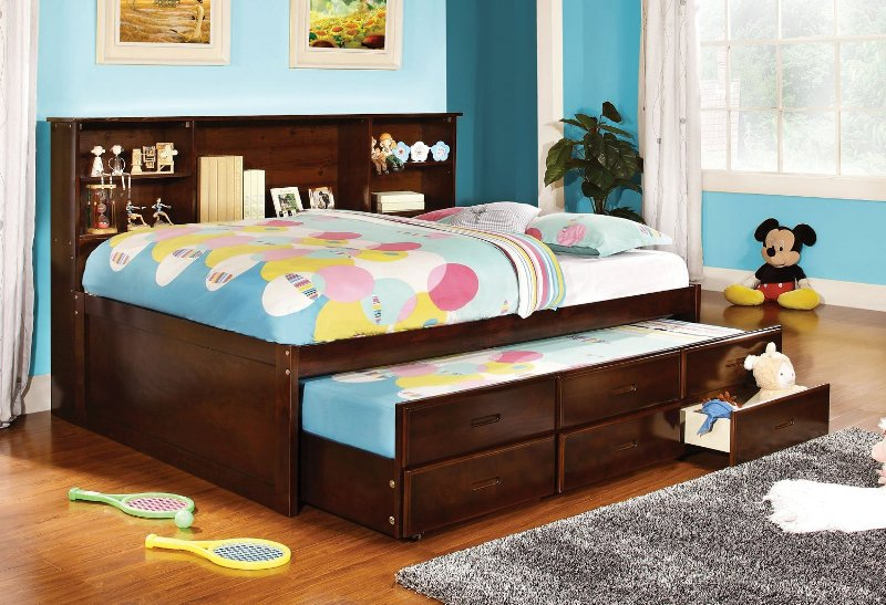 Kids Full Size Captains Bed With Storage