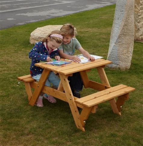 Picture of: Kids Wooden Bench Set