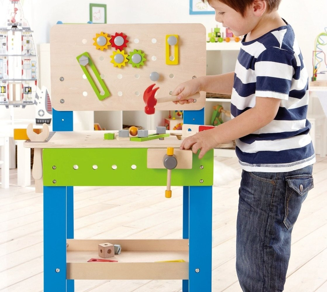 Picture of: Kids Wooden Tool Bench Modern