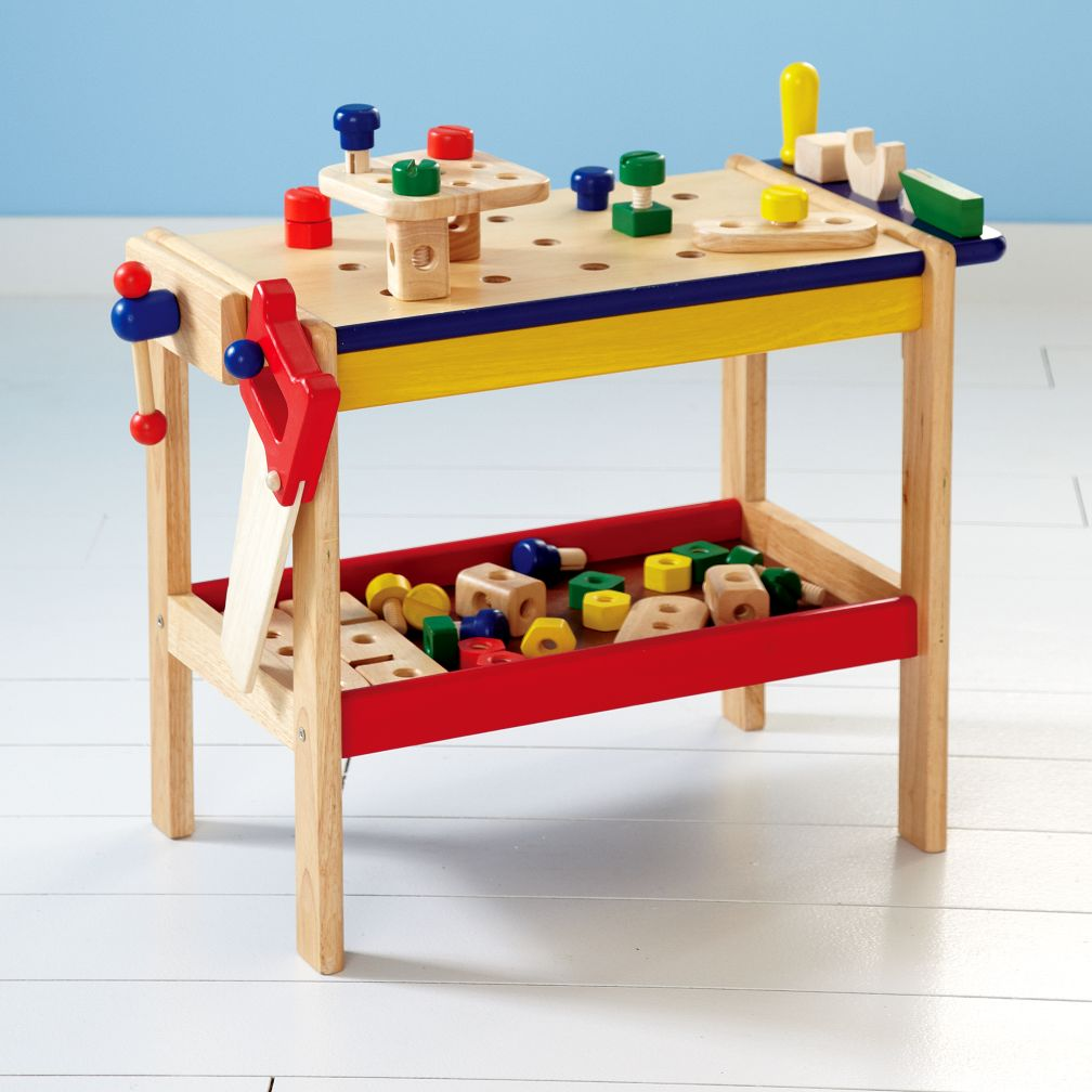Picture of: Kids Wooden Tool Bench Small